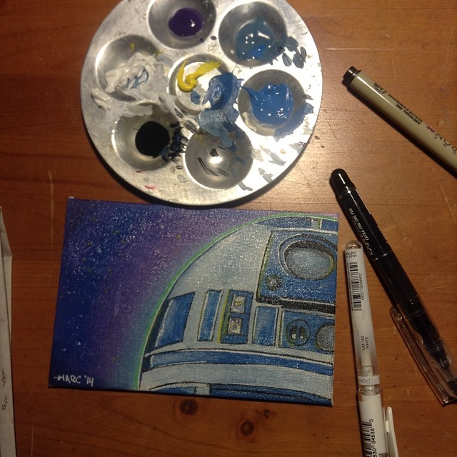 Painting R2d2