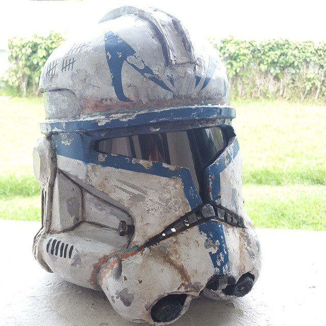 Finished Rex Helmet